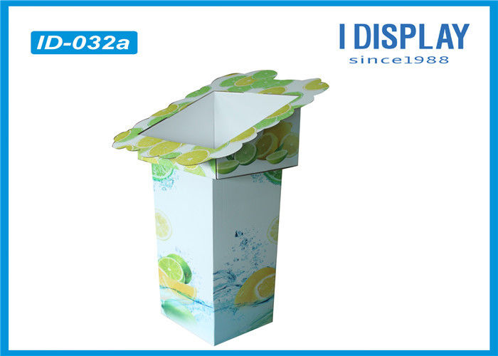 Fruit Retail Cardboard Advertising Display Stands / Cardboard Display Shelves