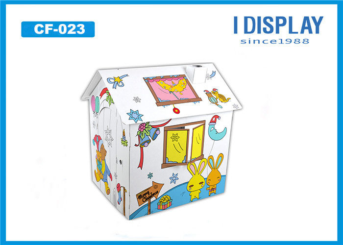 Cardboard Princess Castle Playhouse  /  Corrugated Cardboard Playhouse For Children