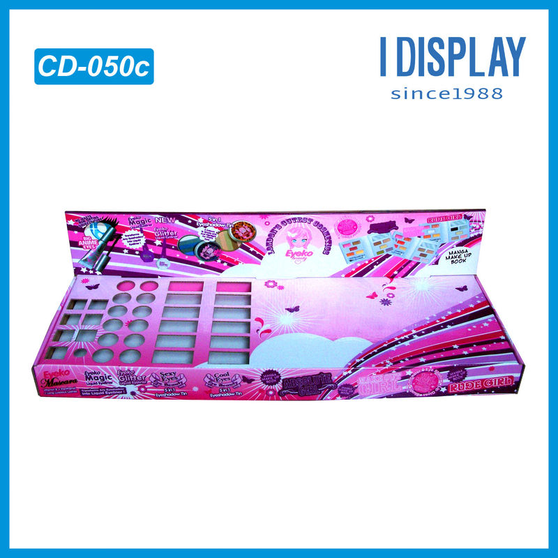 Full Printing Creative Colour Cosmetic cardboard display shelves For Nail Polish