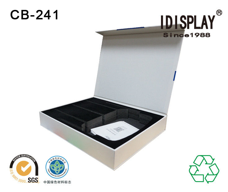 Recyclable Magnetic Closure Cardboard Box Packaging Perfume Sponge And Eva Foam Insert